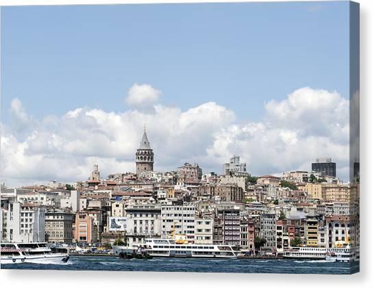 Turkish Canvas Print - View Of Istanbul by Ernesto Cinquepalmi
