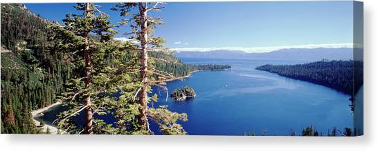 View Of Lake Tahoe And Emerald Bay In Canvas Print
