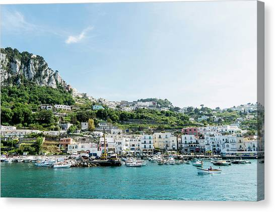 View Of Marina Grande From The Sea Canvas Print by Arnt Haug / Look-foto