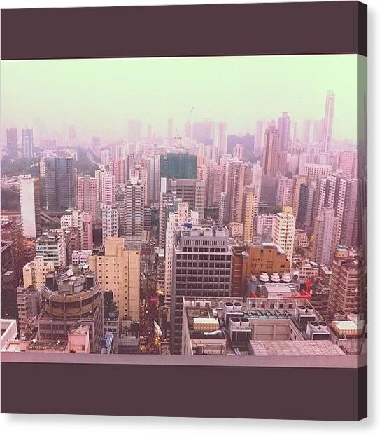 Hong Kong Canvas Print - View Of Mongkok by Brittnie DuVall