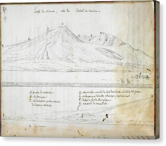 Mount Vesuvius Canvas Print - View Of Mount Vesuvius by British Library