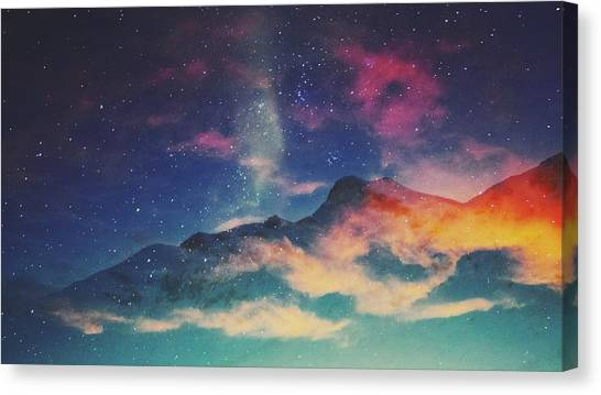 View Of Mountain Covered With Clouds Canvas Print by Haydn Gawer / Eyeem
