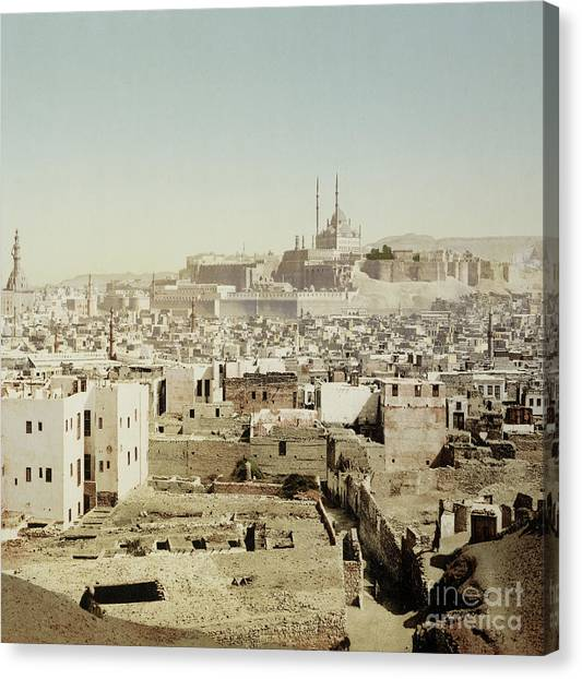 Aac Canvas Print - View Of Old Cairo, Egypt, 1906 by Getty Research Institute
