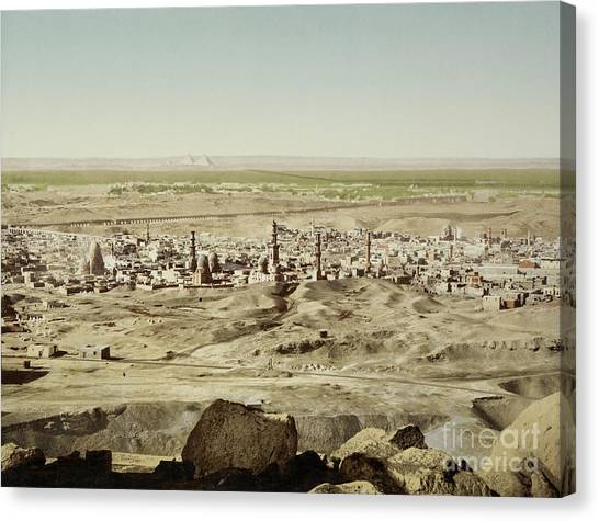 Aac Canvas Print - View Of Old Cairo With Pyramids, Egypt by Getty Research Institute