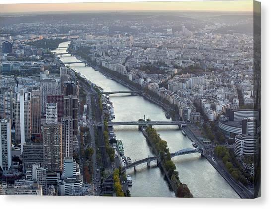 Canvas Print featuring the photograph View Of Paris by Georgi Djadjarov