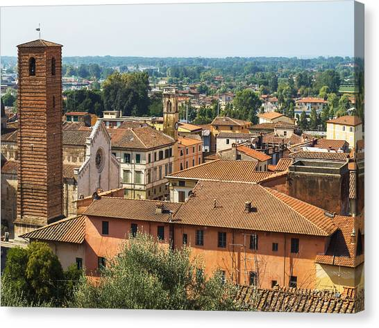 View Of Pietrasanta Canvas Print