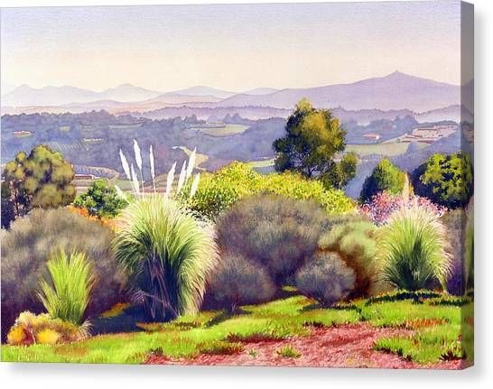 Santa Fe Canvas Print - View Of Rancho Santa Fe by Mary Helmreich