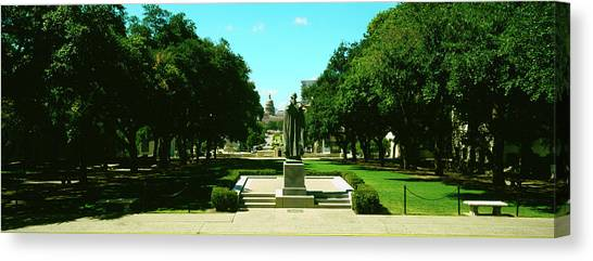 Texas State University Texas State Canvas Print - View Of State Capitol From University by Panoramic Images