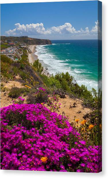 View Of Strand Beach And Dana Point Headland Canvas Print