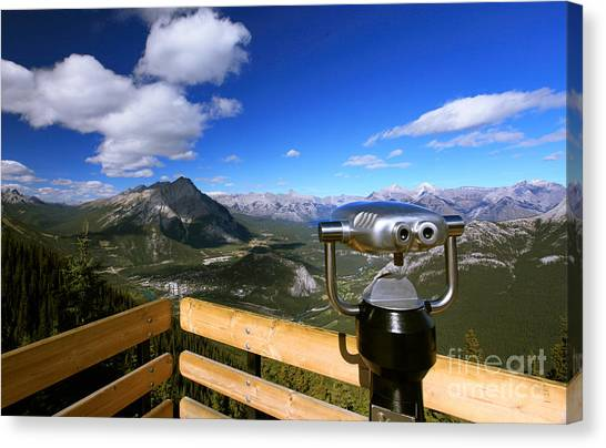 View Of The Canadian Rockies Canvas Print
