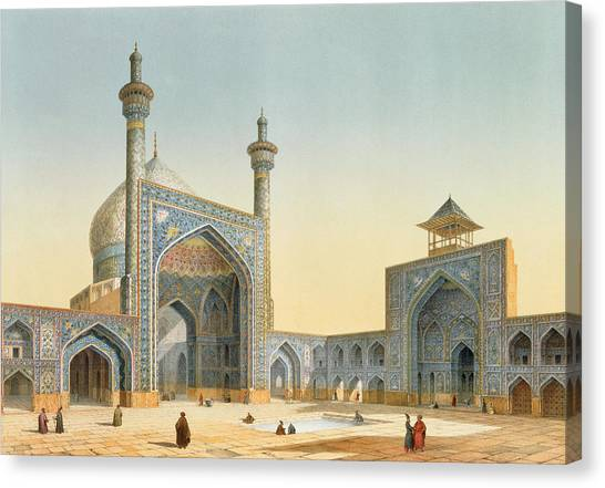 Iranian Canvas Print - View Of The Courtyard by Pascal Xavier Coste