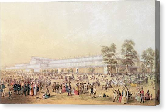 Hyde Park Canvas Print - View Of The Crystal Palace by George Baxter