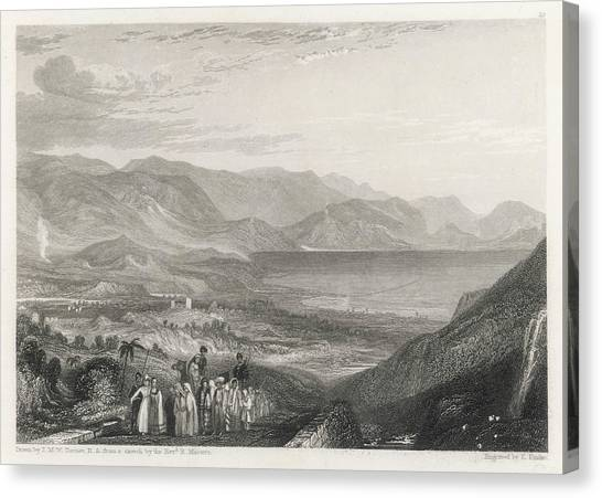 River Jordan Canvas Print - View Of The Dead Sea, Jericho by Mary Evans Picture Library