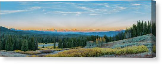 View Of The Grand Teton Mountains Canvas Print by Richard and Susan Day