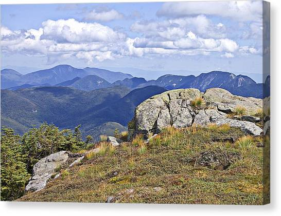 View Of The Great Range From Algonquin Canvas Print