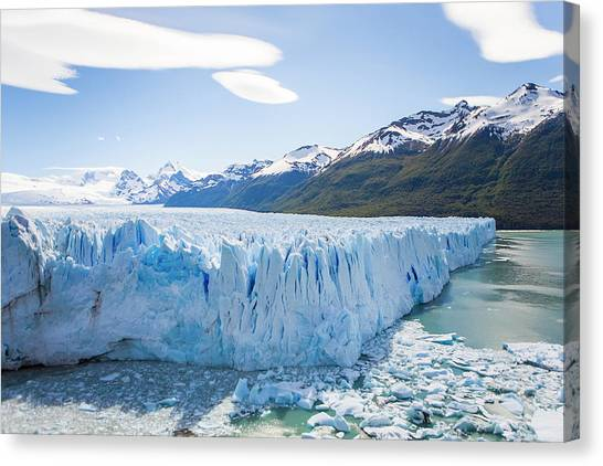 Perito Moreno Glacier Canvas Print - View Of The Massive Perito Moreno by Mike Theiss