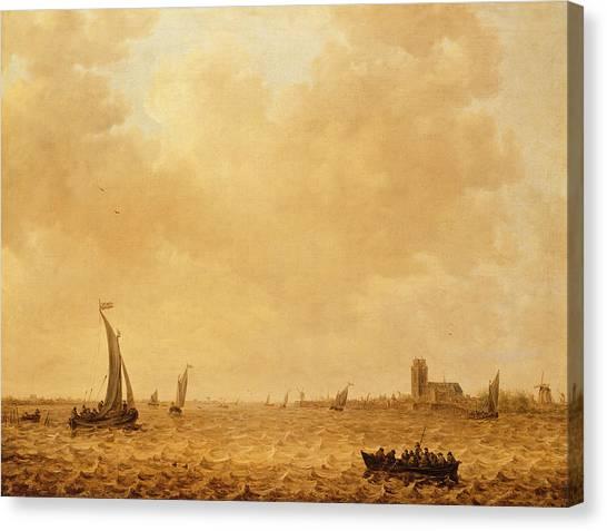 Maas Canvas Print - View Of The Old Maas, Dordrecht by Jan Josephsz van Goyen