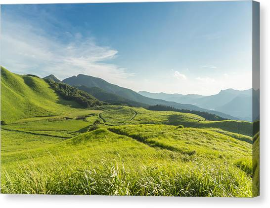 View Of The Plateau,soni Kougen In Japan Canvas Print by Yagi-Studio