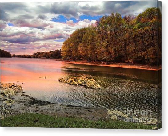 View Of The Salmon River Canvas Print