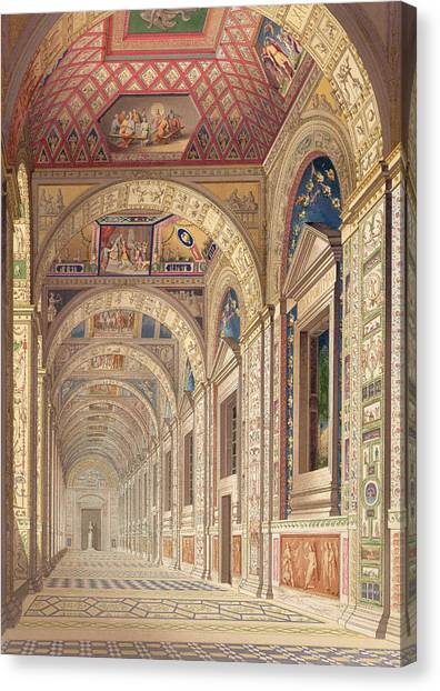 Tile Canvas Print - View Of The Second Floor Loggia by Italian School