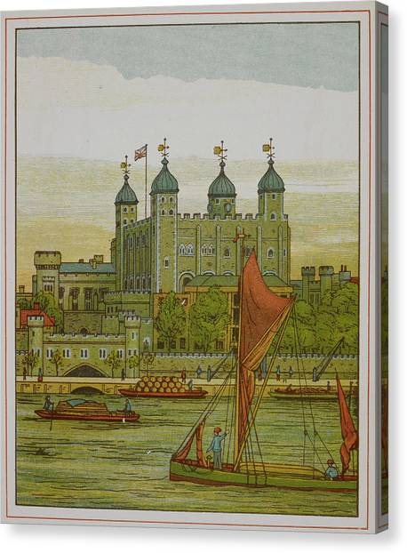 Tower Of London Canvas Print - View Of The Tower Of London by British Library