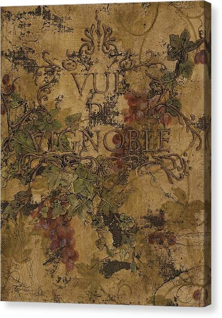 View Of The Vineyard Canvas Print
