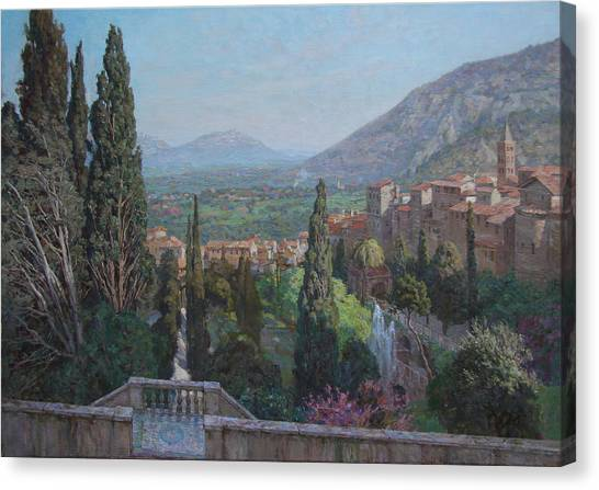 View Of Tivoli From The Terrace Of Villa D'este Canvas Print by Korobkin Anatoly