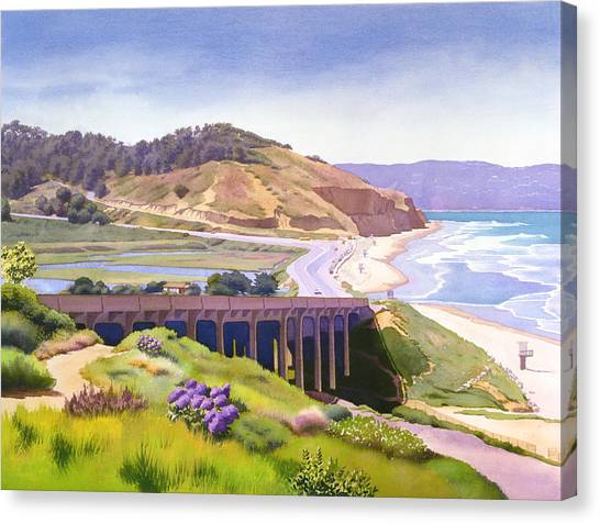 Landscape Canvas Print - View Of Torrey Pines by Mary Helmreich