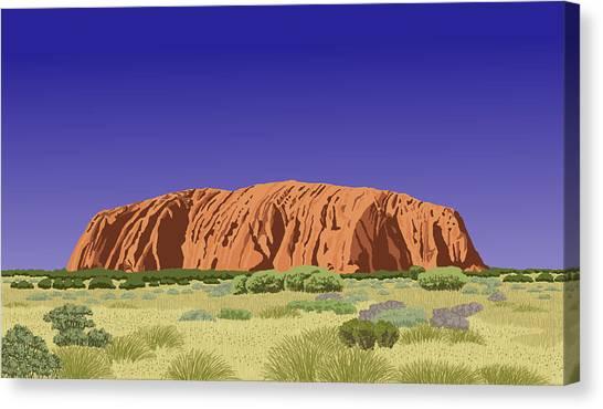 View Of Uluru / Ayers Rock Canvas Print