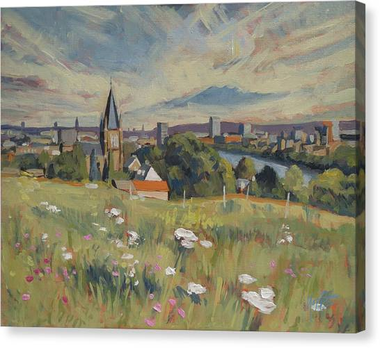 View On Maastricht Canvas Print