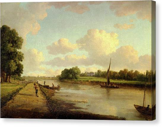 Marlow Canvas Print - View On The River Thames At Richmond View On The River by Litz Collection