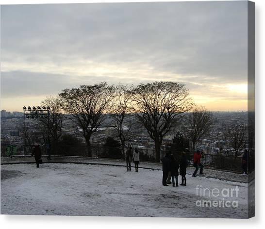 View Over Paris Canvas Print