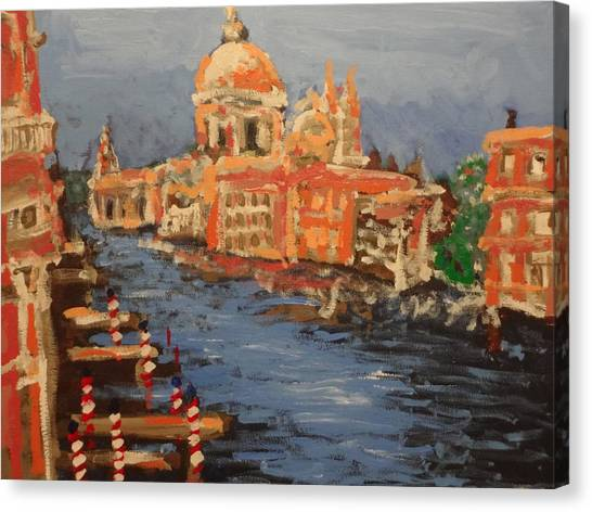 View Over The Canal Canvas Print by Paul Benson