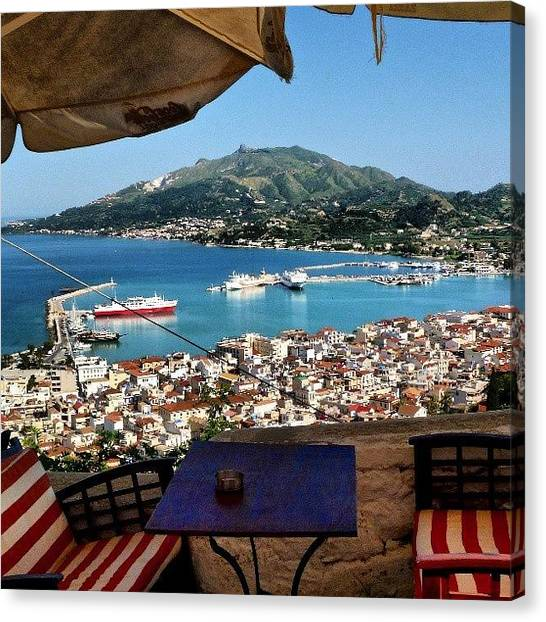 Ford Canvas Print - View Over #zante Town And Port by Alistair Ford