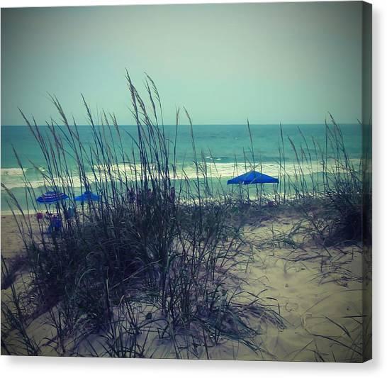 View Thru The Beach Grass Canvas Print