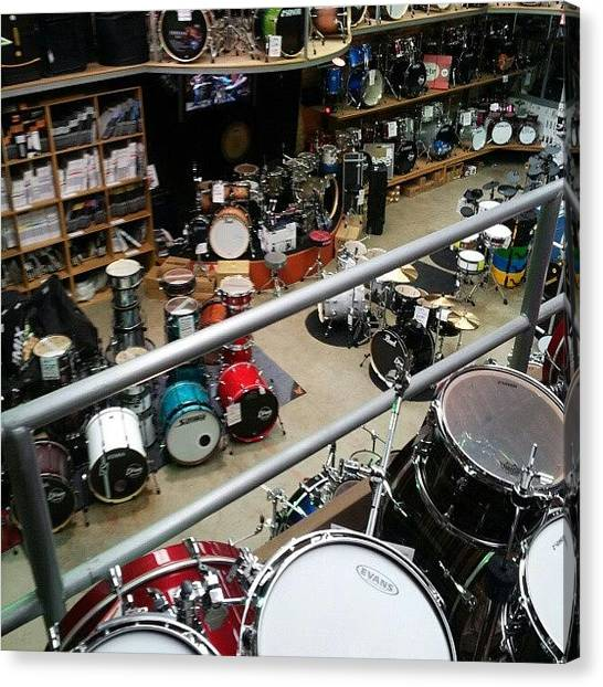 Percussion Instruments Canvas Print - View To A Thrill... Just Stopped By The by The Drum Shop