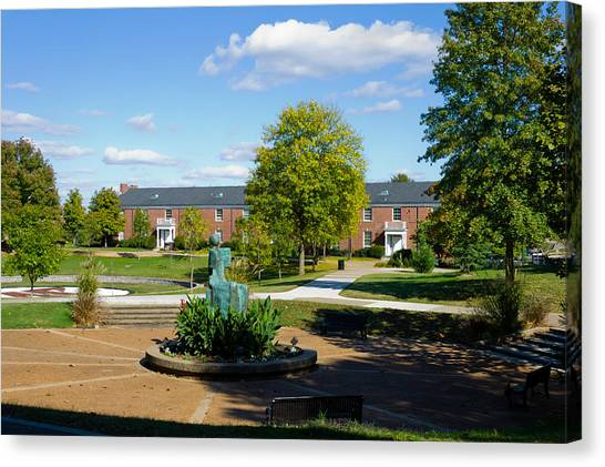 Ohio Valley Canvas Print - View Toward Harvill Hall by Ed Gleichman