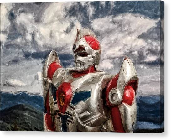 View Wth A Robot Canvas Print