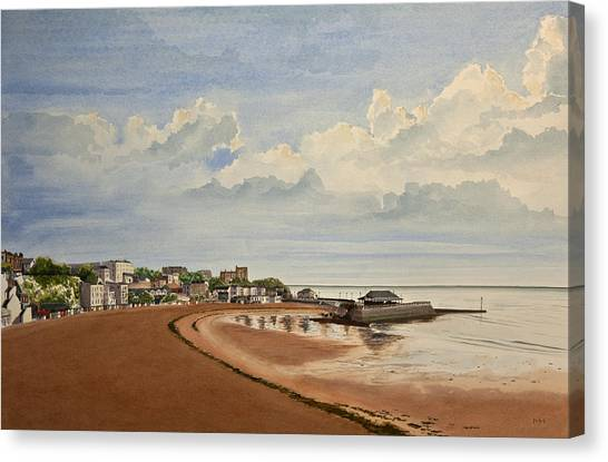 Viking Bay Broadstairs Kent Uk Canvas Print by Martin Howard