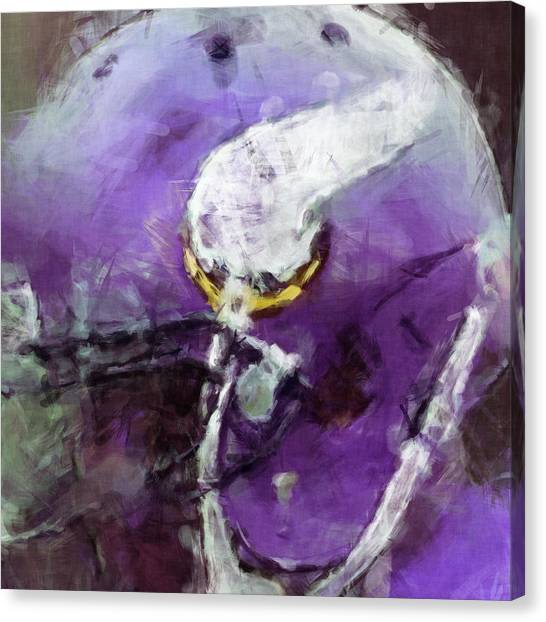 Minnesota Vikings Canvas Print - Vikings Art Abstract by David G Paul