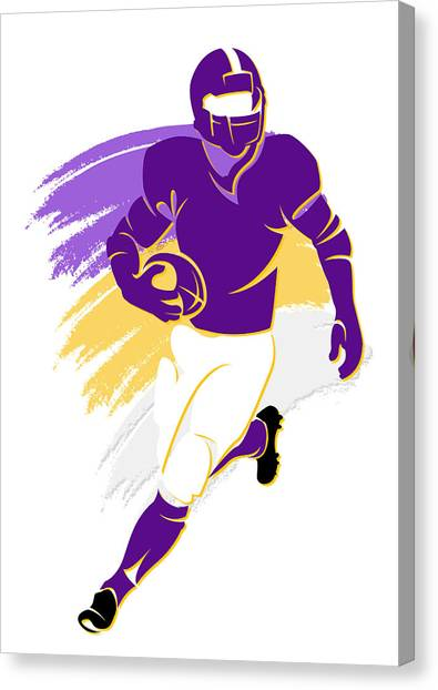 Purple Canvas Print - Vikings Shadow Player2 by Joe Hamilton
