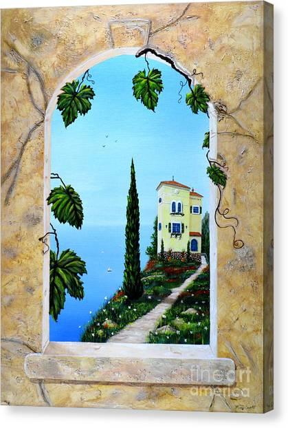 Villa By The Sea Canvas Print