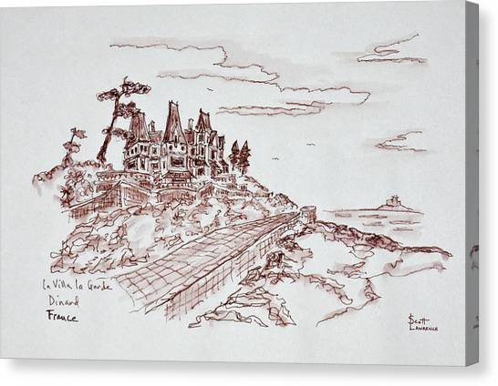 Scotty Canvas Print - Villa La Grande, Saint-enogat, Dinard by Richard Lawrence
