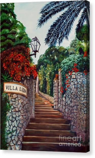 Villa Lidia Canvas Print by Nancy Bradley