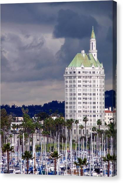 Villa Riviera Long Beach Canvas Print