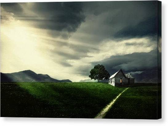Canaries Canvas Print - Village by Bess Hamiti