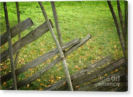 Village Fence Canvas Print by Jolanta Meskauskiene