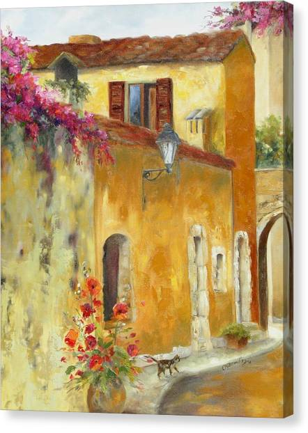 Village In Provence Canvas Print