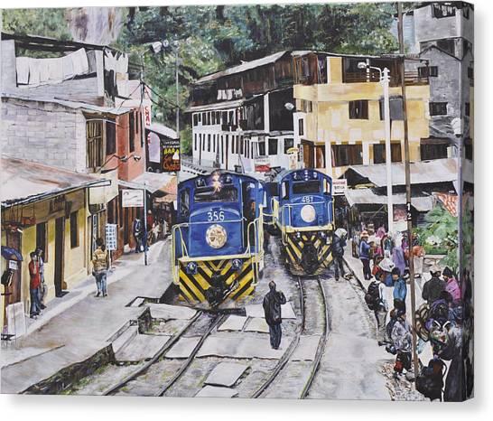 Village Of Aquas Calientes Canvas Print