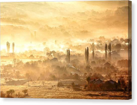 East Village Canvas Print - Village Of Gold by Evgeni Dinev
